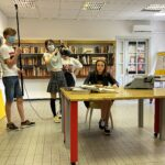 Priprava kadra v knjižnici Sežana